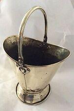 Antique Brass Helmet Shaped Log Bin/Coal Bucket C19000
