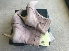 Clarks Dusky Pink Suede Ankle Boots size 6.5 In Original Box