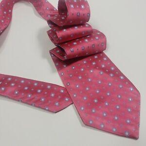 """NWOT Brooks Brothers Golden Fleece Pink Geometric Silk Tie - 60"""" x 4"""""""