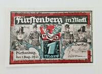 FÜRSTENBERG NOTGELD 1 MARK 1921 NOTGELDSCHEIN (12102)
