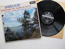 "Sibelius Symphony No.1 Karelia Suite 12""Lp VPO Mazel Decca SXL 6084 GB WBG Ed2"