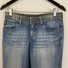 Esprit Bootcut Jeans Size 8 Regular Square Metal Rivets On Waistband