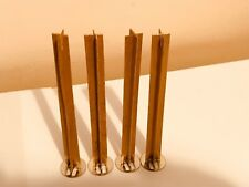 10 pcs CROSS WOOD WICK 13cm high 12mm wide for Candle Making with sustainers