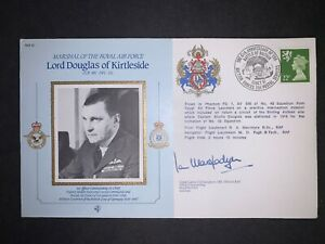 MARSHALS OF THE RAF SERIES FLOWN & SIGNED COVER - CMD 10B