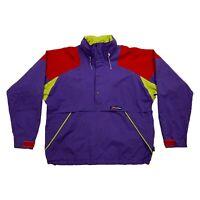 Berghaus Anorak Jacket | Vintage 90s Designer Outdoors Rain Coat Purple VTG