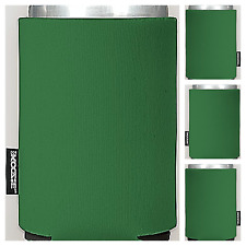 Lot of 4 Blank Kelly Green Collapsible KOOZIE (R) Can Kooler Beverage Insulators