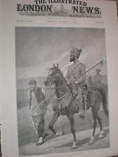 Bengal Cavalry Patrol escort a Boxer prisoner China 1900 old print RC Woodville