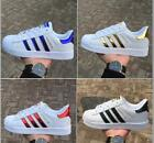 7 colo New Women Men's Striped Lace Up Sport Running Sneakers Trainers Shoes
