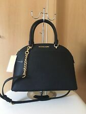 Brand New Emmy Michael Kors Dome Leather Black Satchel Bag RRP £340 Sale