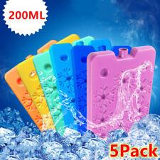 5PC 200ml Ice Freezer Packs Lunch Box Cooler Reusable Cool Refreeze Blocks US