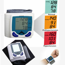 LCD Digital Wrist Blood Pressure Monitor Heart Rate Beat Pulse Meter Measure EBG