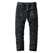 Mens Classic Straight Sports Multi-pocket Cargo Overalls Pants Outdoor Tooling D