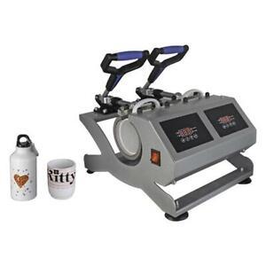 Taza Calor Máquina Prensa Doble Estación Bluewave CH1902 Para Sublimación Print