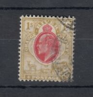 Orange River Colony KEVII 1905 1/- Scarlet Bistre SG151 VFU J9466