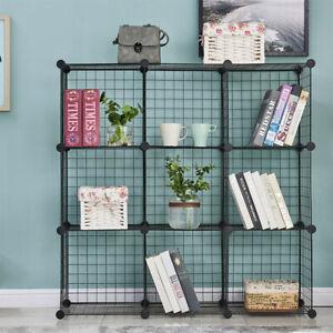 9-Cube Shelves Organizer Metal Wire Cube Storage Bins DIY Closet Cabinet Shelf