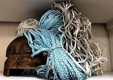 VINTAGE FRENCH HAT MILLINERS HAT RAFFIA BRAID Butter & Oyster 1940-50s 10yds