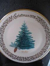 Lenox Christmas 1979 Blue Spruce Ltd Ed Plate w/ Box