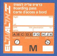 EL AL Israel Airlines Boarding Pass Part