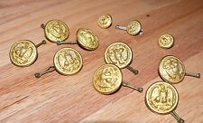 Gold Navy WW II Brass Buttons 8 large 3 small