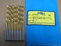 """12 GREENFIELD 3//32/"""" Jobber Length HSS Twist Drill Bits black HD 135SP 311661 USA"""