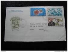 TAAF carta 1/1/86 - sello stamp - yvert y tellier nº115 116 117 (cy8)