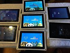 Lot Of 7 Fuhu Nabi DreamTab HD8 16GB Kids Tablet w/ Wi-Fi Cracked,all Power Up