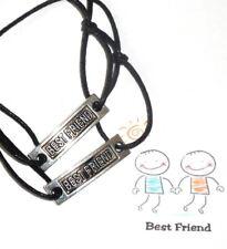 2 x Unisex Friendship Bracelets - 'BEST FRIEND'' + Card