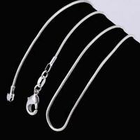 925 Solid Sterling Silver Snake Chain Necklace Pendant 18 inch Jewellery 1mm UK