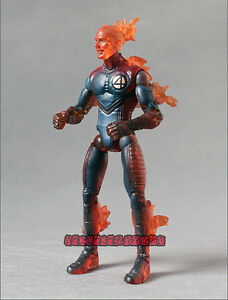 Marvel Legends Fantastic Four Movie Human Torch Blue Outfit Loose Action Figure