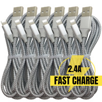 3/6Pack10Ft 6Ft Fast USB Charger Cable For iPhone 12 11 8 7 6 Plus Charging Cord