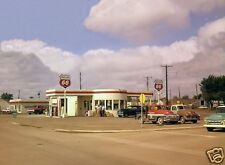 PHILLIPS 66 GAS FULL SERVICE STATION PUMPS 50's CHEVY TRUCKS BUICK 5x7 pic