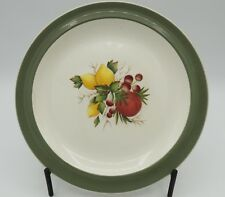 """6 Wedgwood Covent Garden Green on Edge 7"""" Dessert Pie Plates Made in England"""