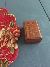 Inlaid Brass Box, Wooden Box, Inlaid Brass, Trinket Box Pill Box, Brunie India
