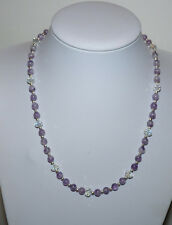 Beautiful Faceted Crystal & Amethyst Necklace.