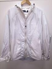 Issey Miyake White Windbreaker Hooded Trench Rain Jacket Size 4 Large