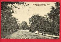 FORT WAYNE INDIANA SWINNEY PARK 1909 Matzinger Toledo Oh POSTCARD