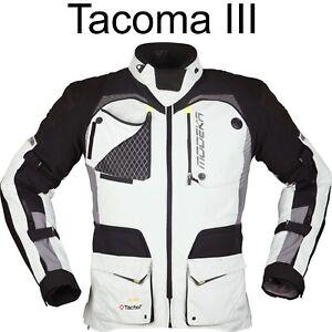 Modeka 3-in-1 Motorradjacke Tacoma III 3 hellgrau XL Motorrad Jacke wasserdicht