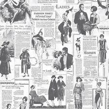 Retro Newspaper Wallpaper Vintage Old Adverts Black White Paste The Wall Galerie
