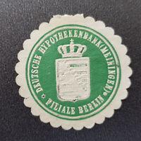 Siegelmarke Vignette DEUTSCHE HYPOTHEKENBANK (MEININGEN) FILIALE BERLIN (8137-5)