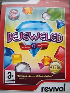 BEJEWELED---MATCH THREE PUZZLE GAME---PC CD---FREE POSTAGE TO UK