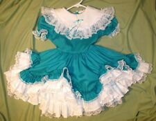 Lid'l Dolly's Girls Dress Party Pageant Portrait Flower Girl Ruffles Lace Size 5