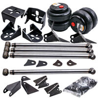 Uni. 4 Link Steel Bars Kit with 2 pcs 2500 Bag Air Ride Suspension Weld On Mount