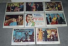 SEVEN HILLS OF ROME original 1958 lobby card set MARIO LANZA/PEGGIE CASTLE