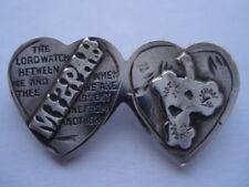 C1901-10 Vintage Small Siver Mizpah Pin Brooch