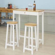 SoBuy Set 1Table + 2Tabourets Table Mange-Debout Table Haute Cuisine FWT50-WN,FR