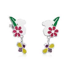 Cute Teddy Bear Ear Stud Butterfly Earrings Jewelry Gifts