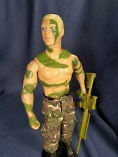 "New listing Vintage Hasbro 1993 G.I. Joe Hof Combat Camo Duke 12"" Action Figure Lot"