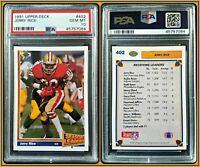 1991 Upper Deck #402 Jerry Rice PSA 10 Gem Mint Card 49ers WR NFL Football HOF