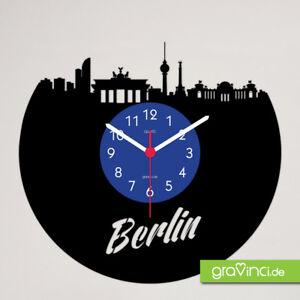 Berlin Skyline Schallplattenuhr