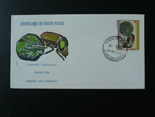insect beetle FDC Upper Volta 74298